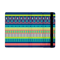 Aztec Triangle Chevron Wave Plaid Circle Color Rainbow Apple Ipad Mini Flip Case