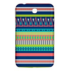 Aztec Triangle Chevron Wave Plaid Circle Color Rainbow Samsung Galaxy Tab 3 (7 ) P3200 Hardshell Case