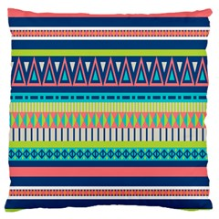 Aztec Triangle Chevron Wave Plaid Circle Color Rainbow Large Flano Cushion Case (Two Sides)