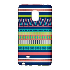 Aztec Triangle Chevron Wave Plaid Circle Color Rainbow Galaxy Note Edge