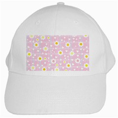 Flower Floral Sunflower Pink Yellow White Cap