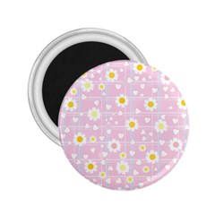 Flower Floral Sunflower Pink Yellow 2.25  Magnets