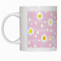 Flower Floral Sunflower Pink Yellow White Mugs