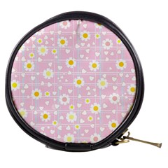 Flower Floral Sunflower Pink Yellow Mini Makeup Bags