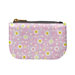 Flower Floral Sunflower Pink Yellow Mini Coin Purses
