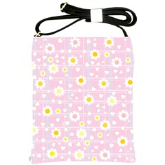 Flower Floral Sunflower Pink Yellow Shoulder Sling Bags