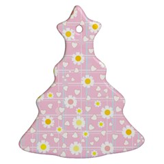 Flower Floral Sunflower Pink Yellow Ornament (Christmas Tree)