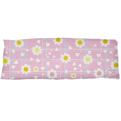 Flower Floral Sunflower Pink Yellow Body Pillow Case Dakimakura (Two Sides)