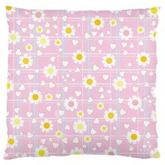 Flower Floral Sunflower Pink Yellow Large Cushion Case (One Side)