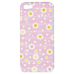 Flower Floral Sunflower Pink Yellow Apple iPhone 5 Hardshell Case