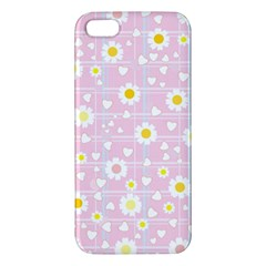 Flower Floral Sunflower Pink Yellow Apple iPhone 5 Premium Hardshell Case