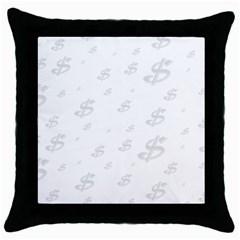 Dollar Sign Transparent Throw Pillow Case (Black)