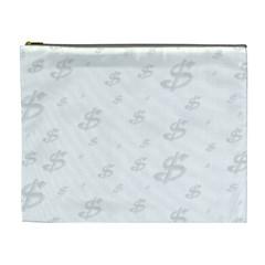 Dollar Sign Transparent Cosmetic Bag (XL)