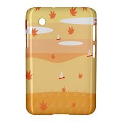 Dragonfly Leaf Orange Samsung Galaxy Tab 2 (7 ) P3100 Hardshell Case