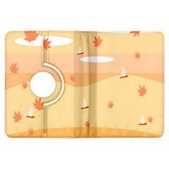 Dragonfly Leaf Orange Kindle Fire Hdx Flip 360 Case
