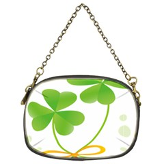 Flower Floralleaf Green Reboon Chain Purses (Two Sides)