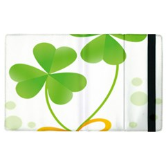 Flower Floralleaf Green Reboon Apple iPad 2 Flip Case