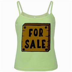 For Sale Sign Black Brown Green Spaghetti Tank