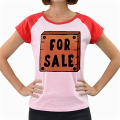 For Sale Sign Black Brown Women s Cap Sleeve T-Shirt