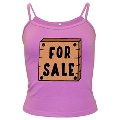For Sale Sign Black Brown Dark Spaghetti Tank