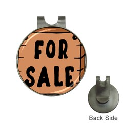 For Sale Sign Black Brown Hat Clips with Golf Markers