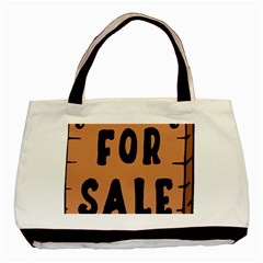 For Sale Sign Black Brown Basic Tote Bag