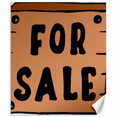For Sale Sign Black Brown Canvas 20  x 24