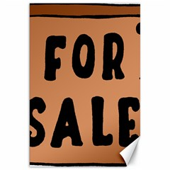 For Sale Sign Black Brown Canvas 20  x 30