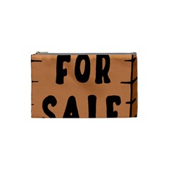 For Sale Sign Black Brown Cosmetic Bag (Small)