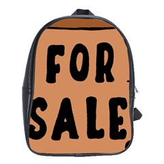 For Sale Sign Black Brown School Bags(Large)