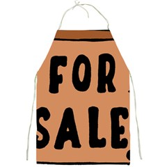 For Sale Sign Black Brown Full Print Aprons