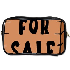 For Sale Sign Black Brown Toiletries Bags