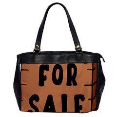For Sale Sign Black Brown Office Handbags