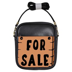 For Sale Sign Black Brown Girls Sling Bags