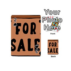 For Sale Sign Black Brown Playing Cards 54 (Mini)