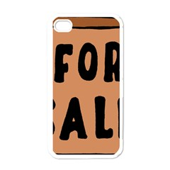 For Sale Sign Black Brown Apple iPhone 4 Case (White)