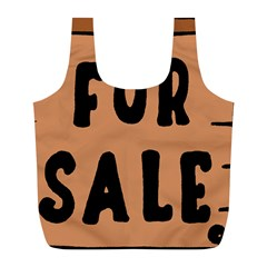 For Sale Sign Black Brown Full Print Recycle Bags (L)