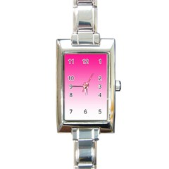 Gradients Pink White Rectangle Italian Charm Watch