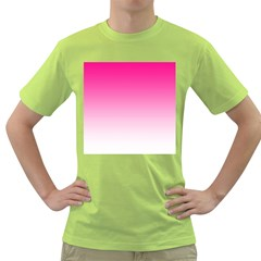 Gradients Pink White Green T-Shirt