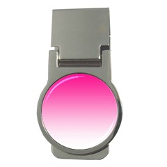 Gradients Pink White Money Clips (Round)