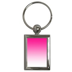 Gradients Pink White Key Chains (Rectangle)