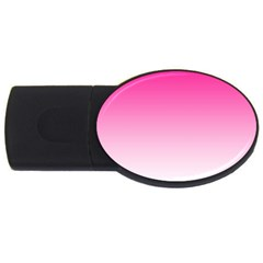 Gradients Pink White USB Flash Drive Oval (2 GB)