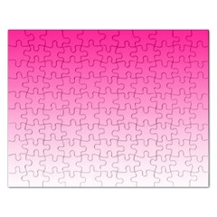 Gradients Pink White Rectangular Jigsaw Puzzl