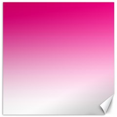 Gradients Pink White Canvas 12  x 12