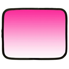 Gradients Pink White Netbook Case (Large)