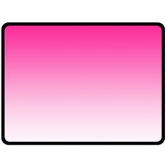 Gradients Pink White Fleece Blanket (Large)