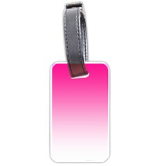 Gradients Pink White Luggage Tags (Two Sides)