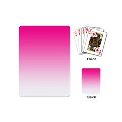 Gradients Pink White Playing Cards (Mini)