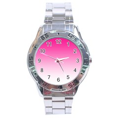 Gradients Pink White Stainless Steel Analogue Watch