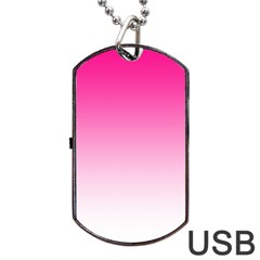 Gradients Pink White Dog Tag USB Flash (One Side)